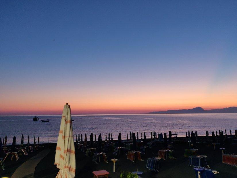 San nicola arcella, serata di luglio 2018. Venere è visibile subito dopo il tramonto.