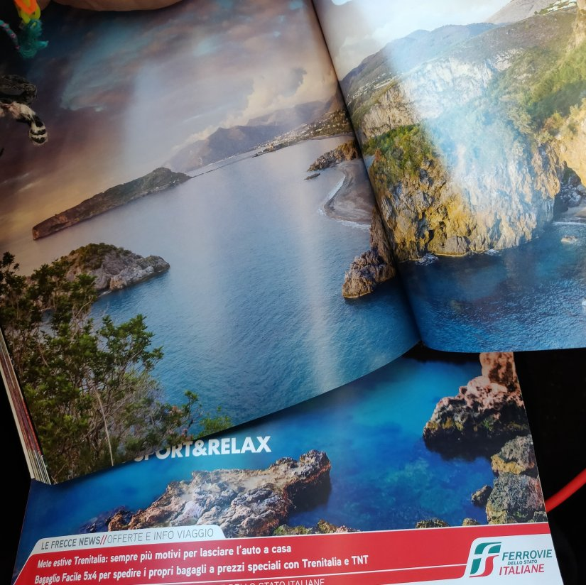Calabria is represented by Arcomagno in the new Trenitalia Tourist Guide.